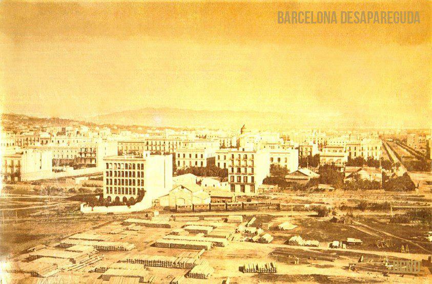 plaça Universitat - 1860