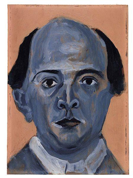 Schönberg, Blaues Selbstportait - 1910