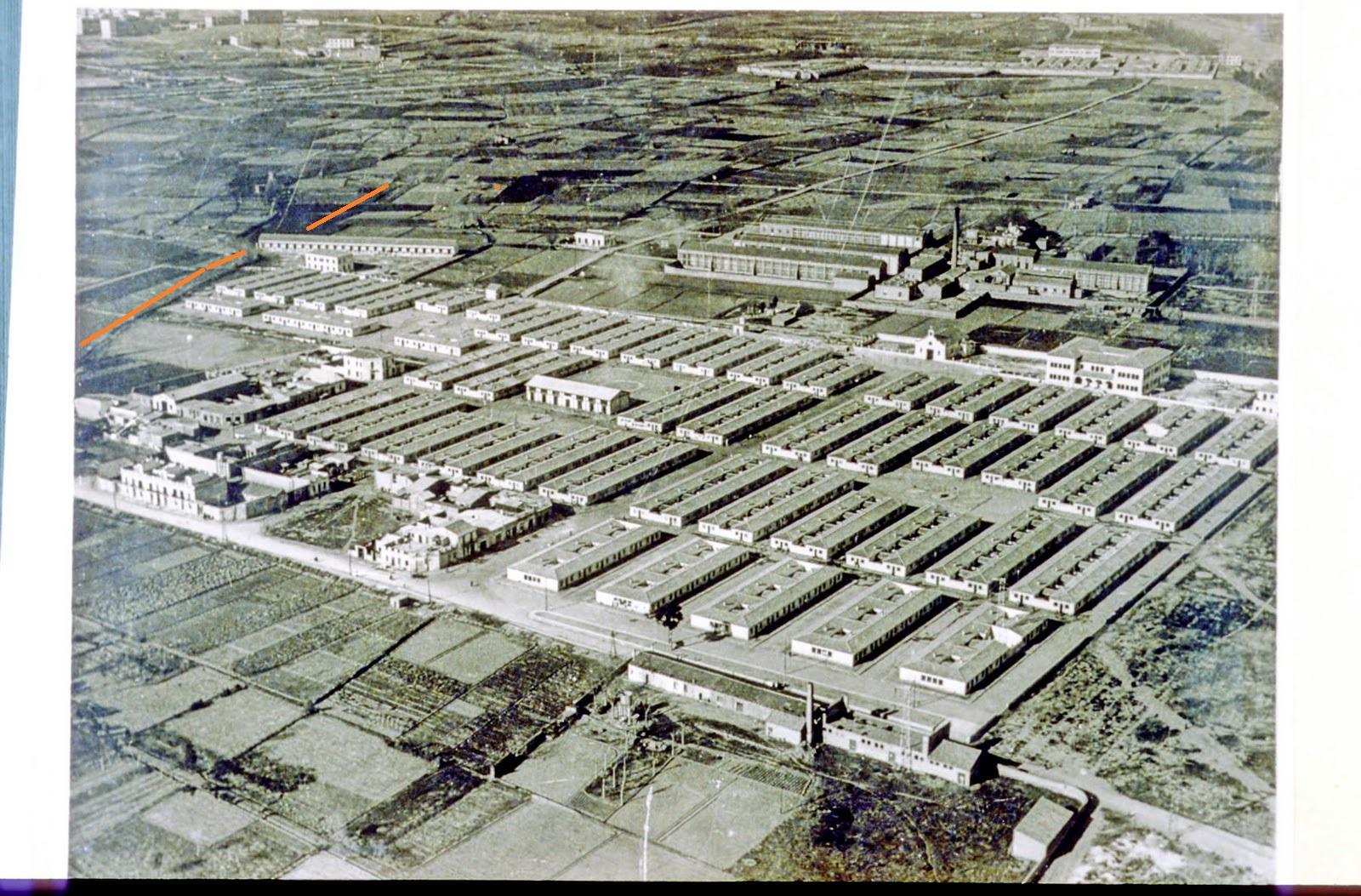 D02-01-001 Diapositiva. Casas Baratas Bon PAstor. 1932. Autor J. Dominguez