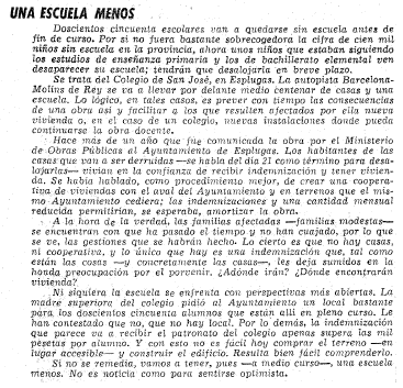 carta vanguardia, 13-2-1968