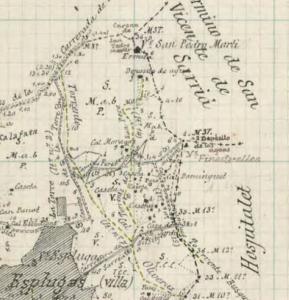 1918, fragment, Instituto Geográfico Nacional, Aj.d'Esplugues
